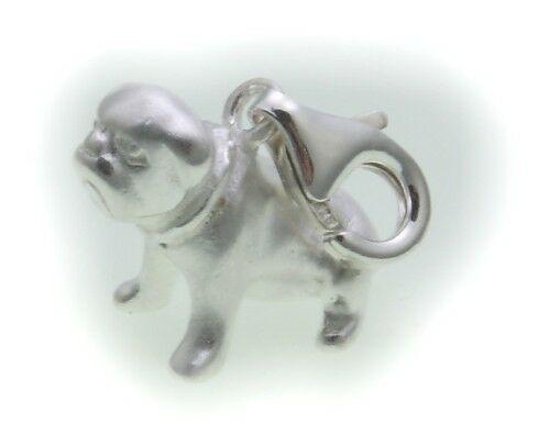 Charm Mops echt Silber 925 Bettelarmband Hund Sterlingsilber Qualität