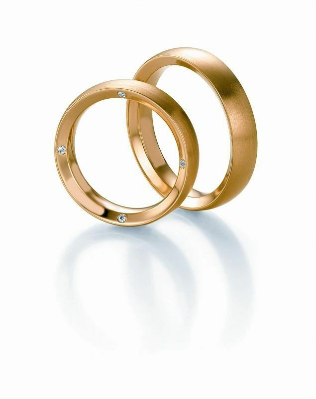 Trauringe Breuning Design Collection 5225/5226 in 585 Gold 14 kt