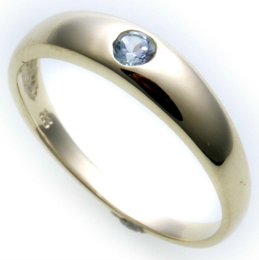 Bestpreis Damen Ring echt Gold 585 Topas 14kt Gelbgold Juwelierqualität Neu Blau
