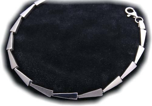 Damen Armband echt Silber 925 teilmatt. rhod. Sterlingsilber Armreif Qualität
