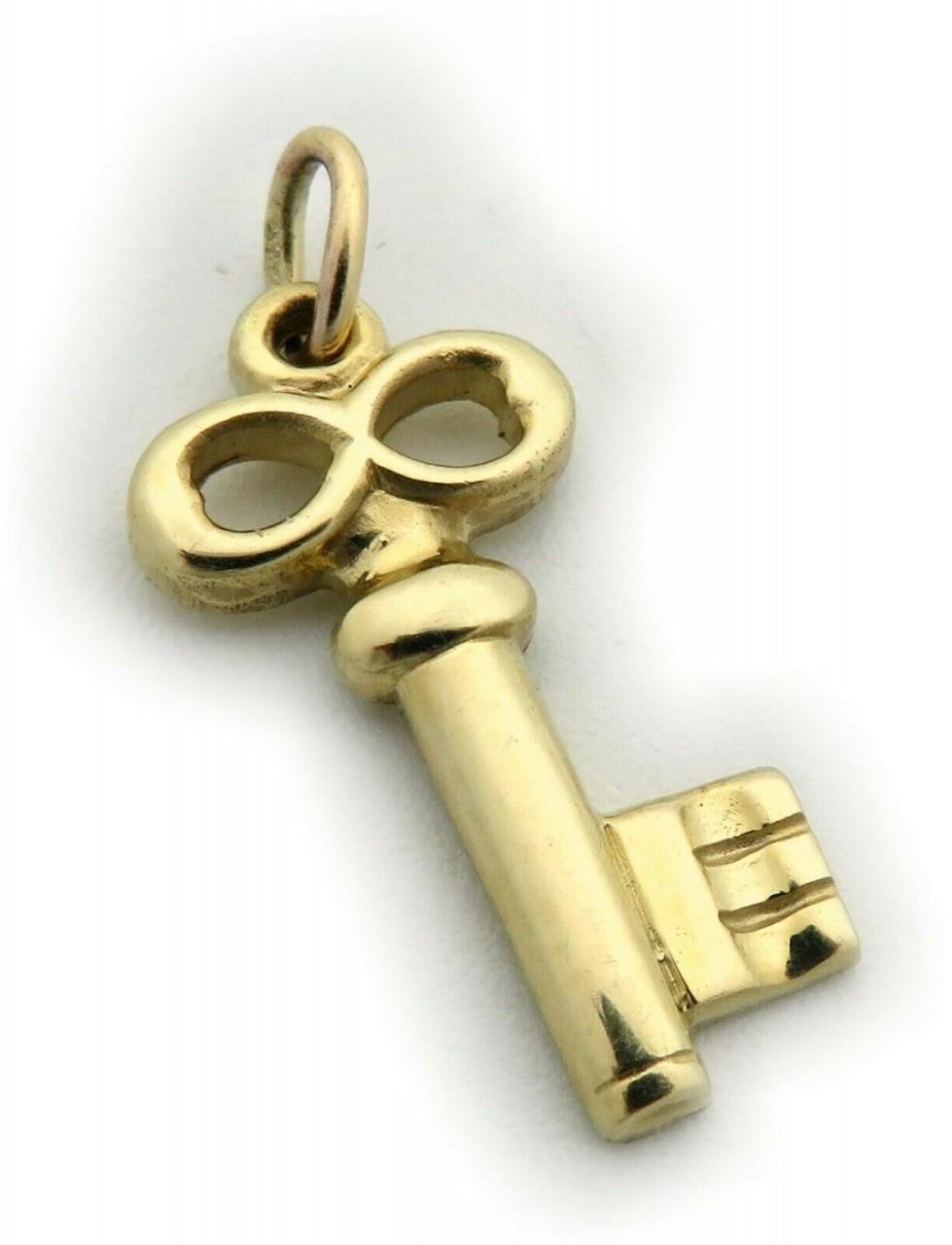 Neu Anhänger Schlüssel echt Gold 585 massiv Gelbgold 14 karat Schloss Top Qual.