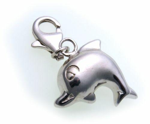 Charm Delfin echt Silber 925 Bettelarmband Charms Delphin Sterlingsilber TBPS007