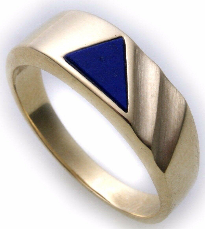 Herren Ring echt Gold 333 echt Lapis alle Steine mögl. Gelbgold Qualität N8453