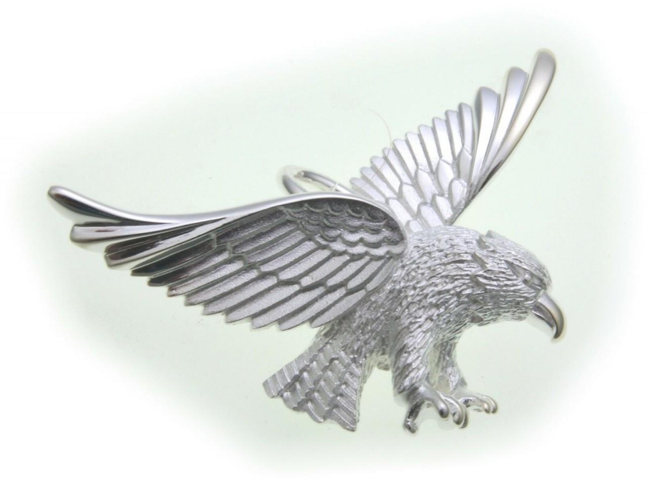 Anhänger Adler groß echt Silber 925 Vogel massiv Raubvogel Sterlingsilber Unisex