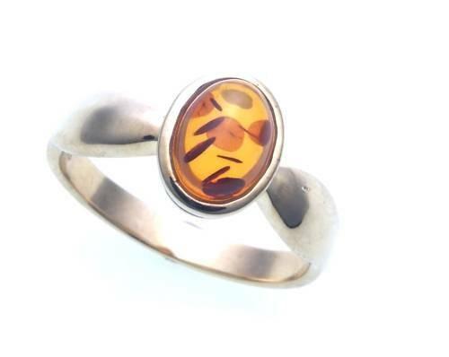 Damen Ring echter Bernstein a d Ostsee echt Silber 925 Sterlingsilber Damen