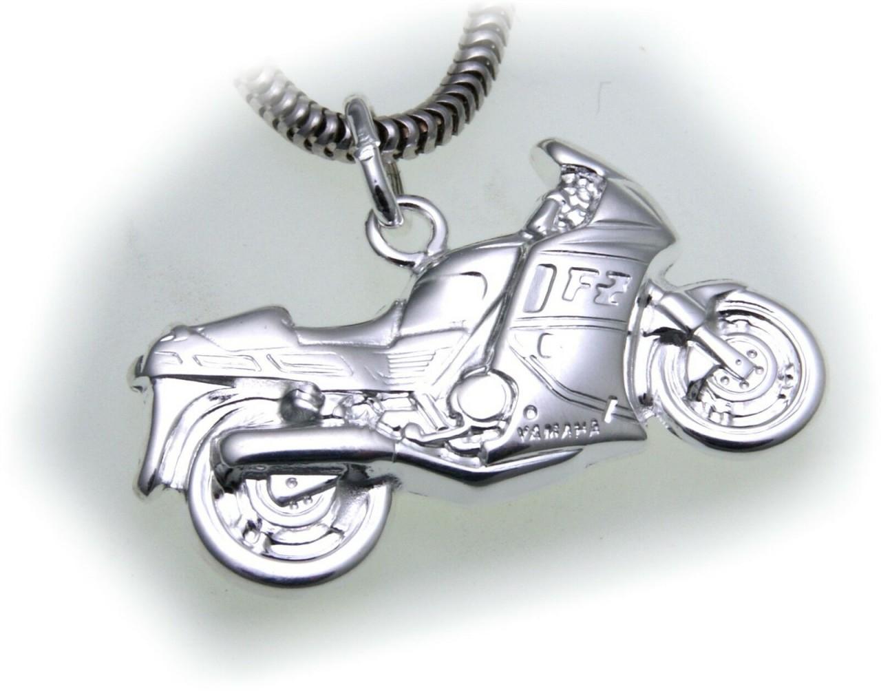 Anhänger Motorrad detailgetreu echt Silber 925 Moped Sterlingsilber Unisex