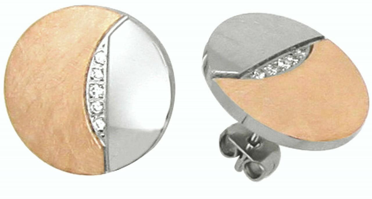 Ohrringe Stecker Edelstahl Zirkonia IPR rose Gold Ohrstecker Hardwear Landmesser
