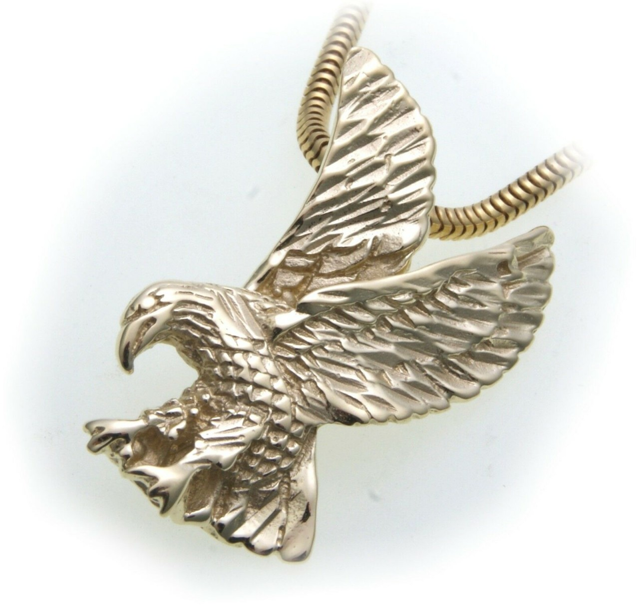 Neu Anhänger Adler echt Gold 585 Vogel 14kt Unisex Raubvogel Greifvogel Gelbgold