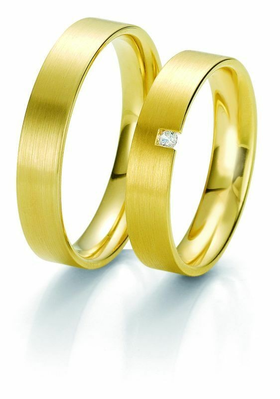 Trauringe Breuning Rainbow Collection 6213/6214 in 585 Gold gelb 14 kt