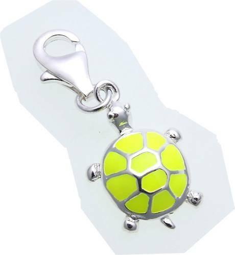 Charm Schildkröte gelb echt Silber 925 Bettelarmband Sterlingsilber Qualität