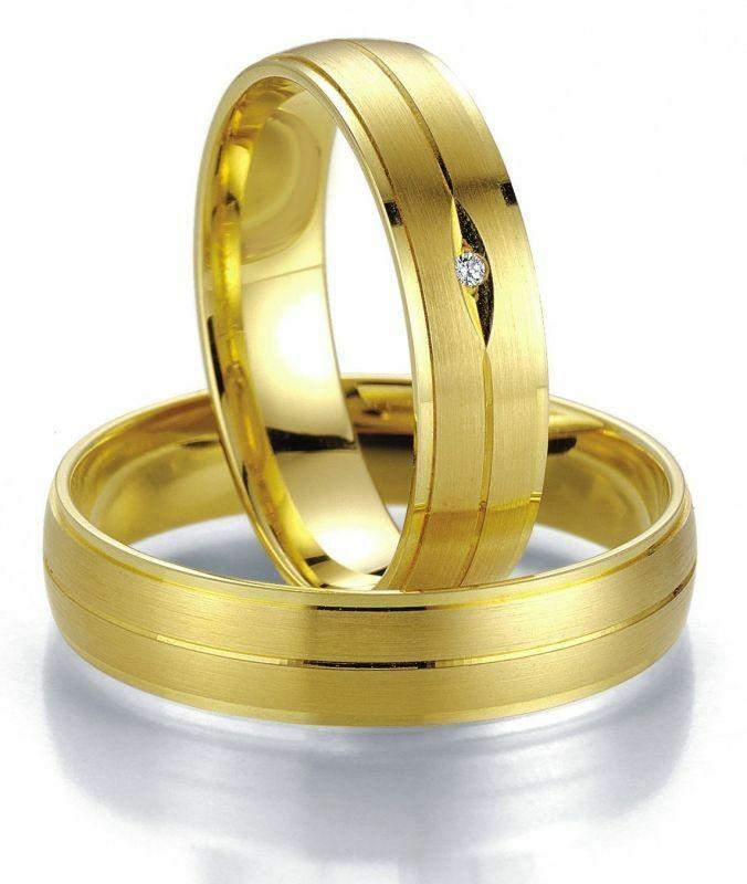 Trauringe Breuning Smartline Collection 7017/7018 in 585 Gold 14 kt