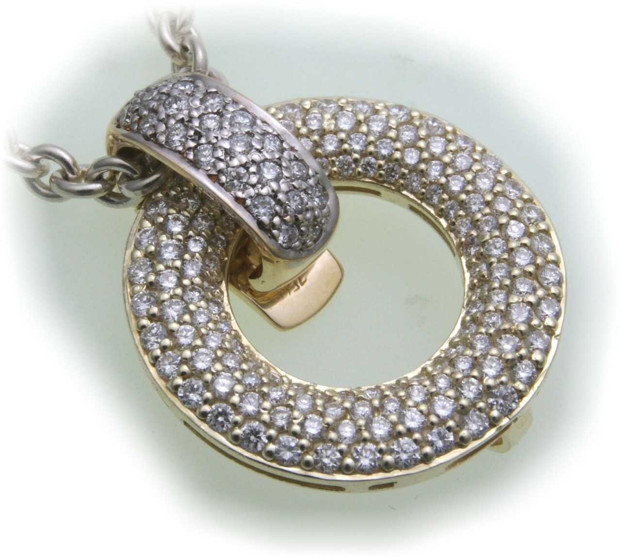 Anhänger Brillant 1,325 carat w/si echt Gold 750 18kt Einhänger Gelbgold
