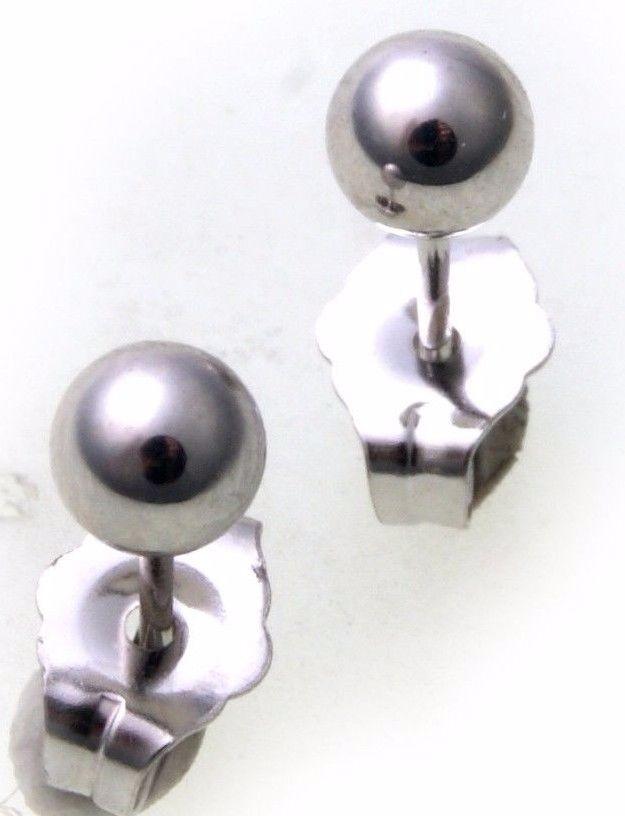 Ohrringe Stecker Kugel 4 mm Weißgold 585 Damen Ohrstecker 14kt Gold Qualität Neu