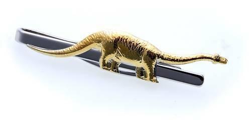 Krawattenhalter Dinosaurier echt Silber 925 teilverg. Sterlingsilber Qualität