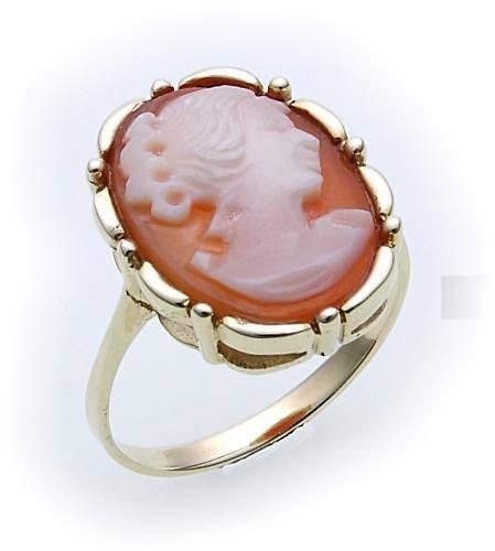 Damen Ring Muschelgemme Silber 925 Gemmenring Sterlingsilber Muschelkamee 8292/8