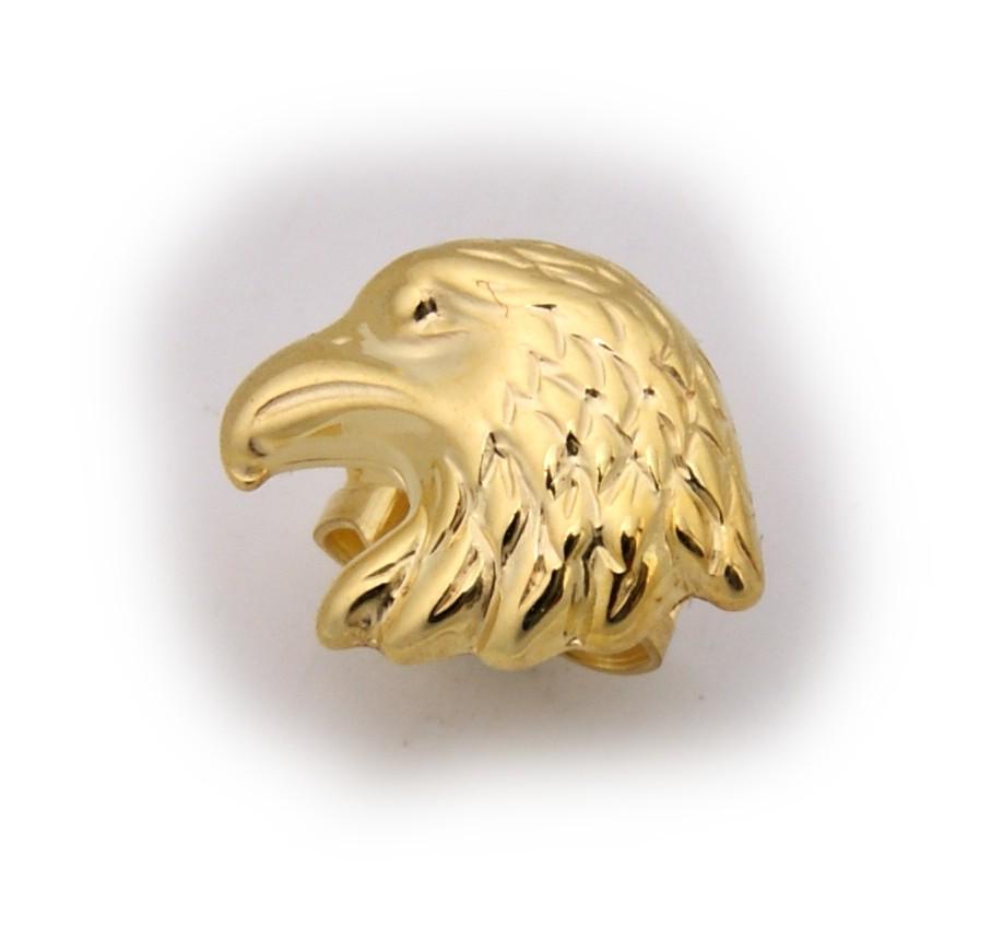 Neu Herren Ohrringe Stecker echt Gold 333 Adlerkopf Adler Ohrring Vogel 8 karat