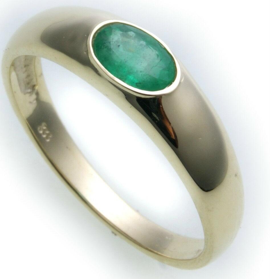 Bestpreis Damen Ring echt Gold 585 Smaragd 14kt Gelbgold made Germany Grün