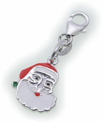 Charm Weihnachtsmann echt Silber 925 Bettelarmband Sterlingsilber Qualität