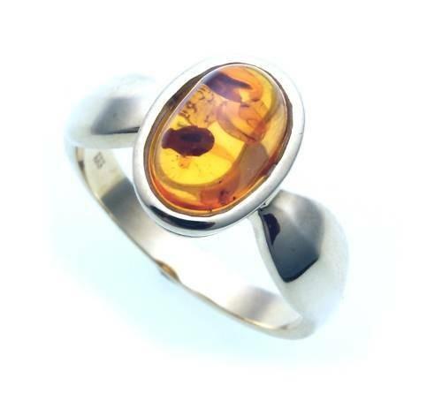 Damen Ring echter Bernstein a d Ostsee echt Silber 925 Sterlingsilber 8091/8BE