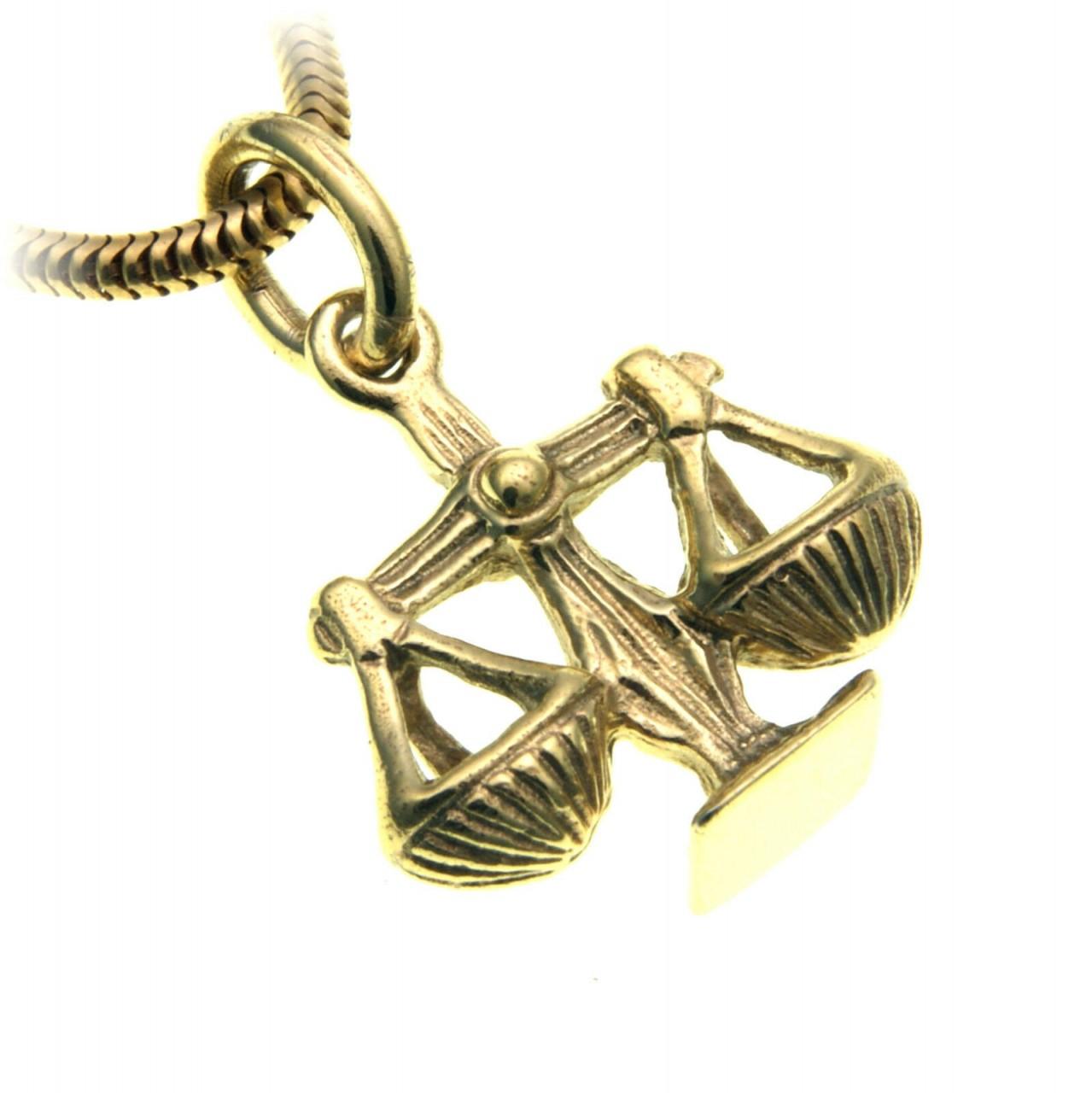 Anhänger Sternzeichen Waage Sterling Silber 925 massiv Tierkreiszeichen Horoskop