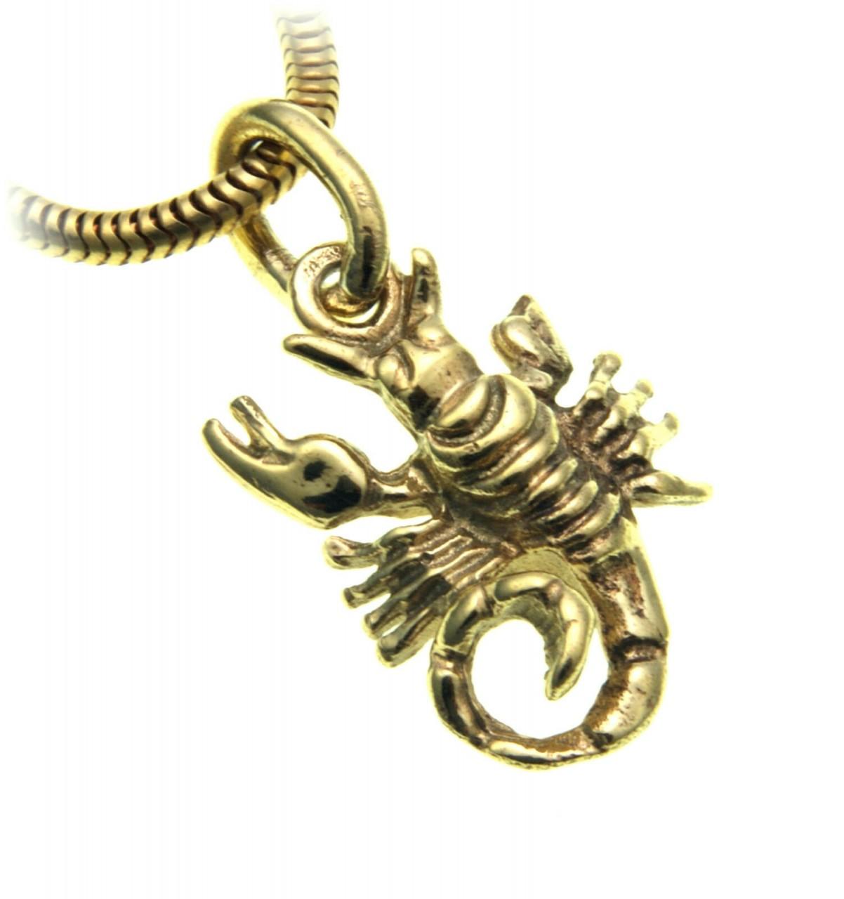 Anhänger Sternzeichen Skorpion echt Gold 333 massiv Tierkreiszeichen Gelbgold