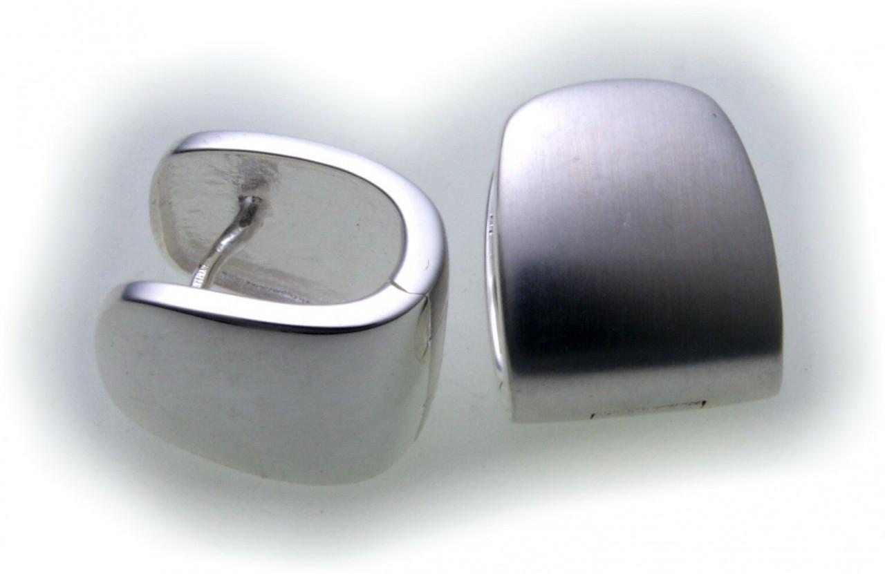 Neu Damen Ohrringe Klapp Creolen echt Silber 925 Sterlingsilber Klappcreolen