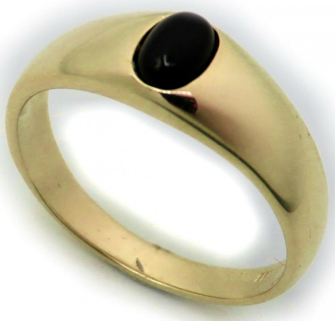 Herren Ring echt Gold 750 echt Onyx 18 karat Gelbgold Qualität Herrenring Neu To