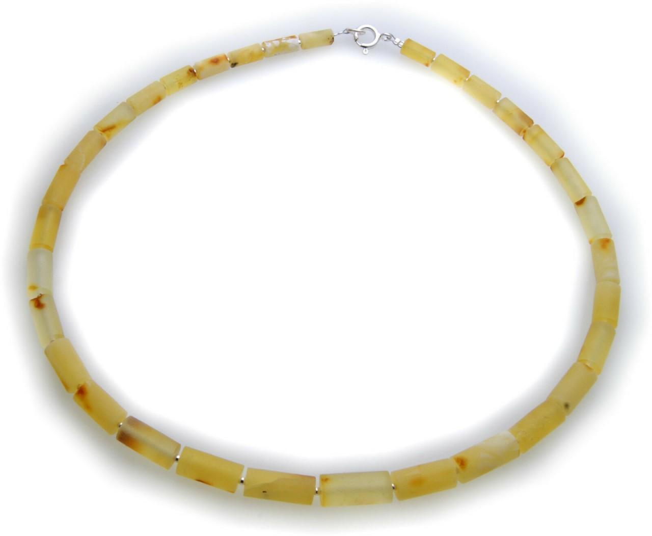 Hals Kette echter Bernstein hell aus der Ostsee Collier Halskette Damen Zylinder