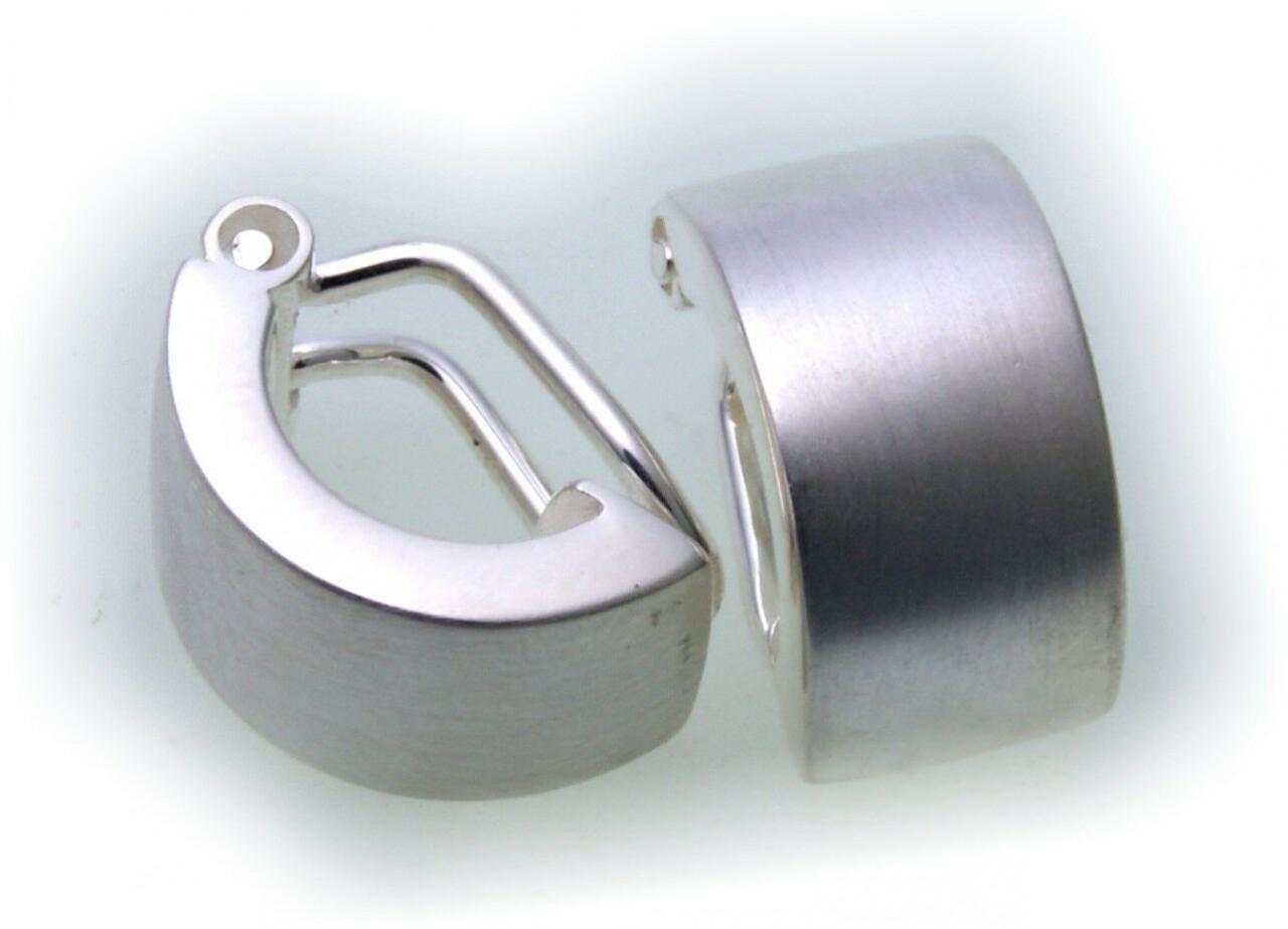 exkl. Damen Ohrringe echt Silber 925 Sterlingsilber Clip gute Qualität Ohrclip