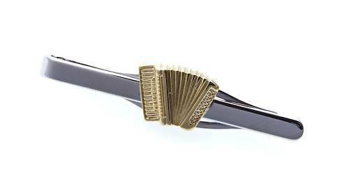 Krawattenhalter Akkordeon echt Silber 925 teilverg. Sterlingsilber Qualität