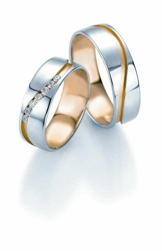Trauringe Breuning Design Collection 5209/5210 in 585 Gold Bicolor 14 kt
