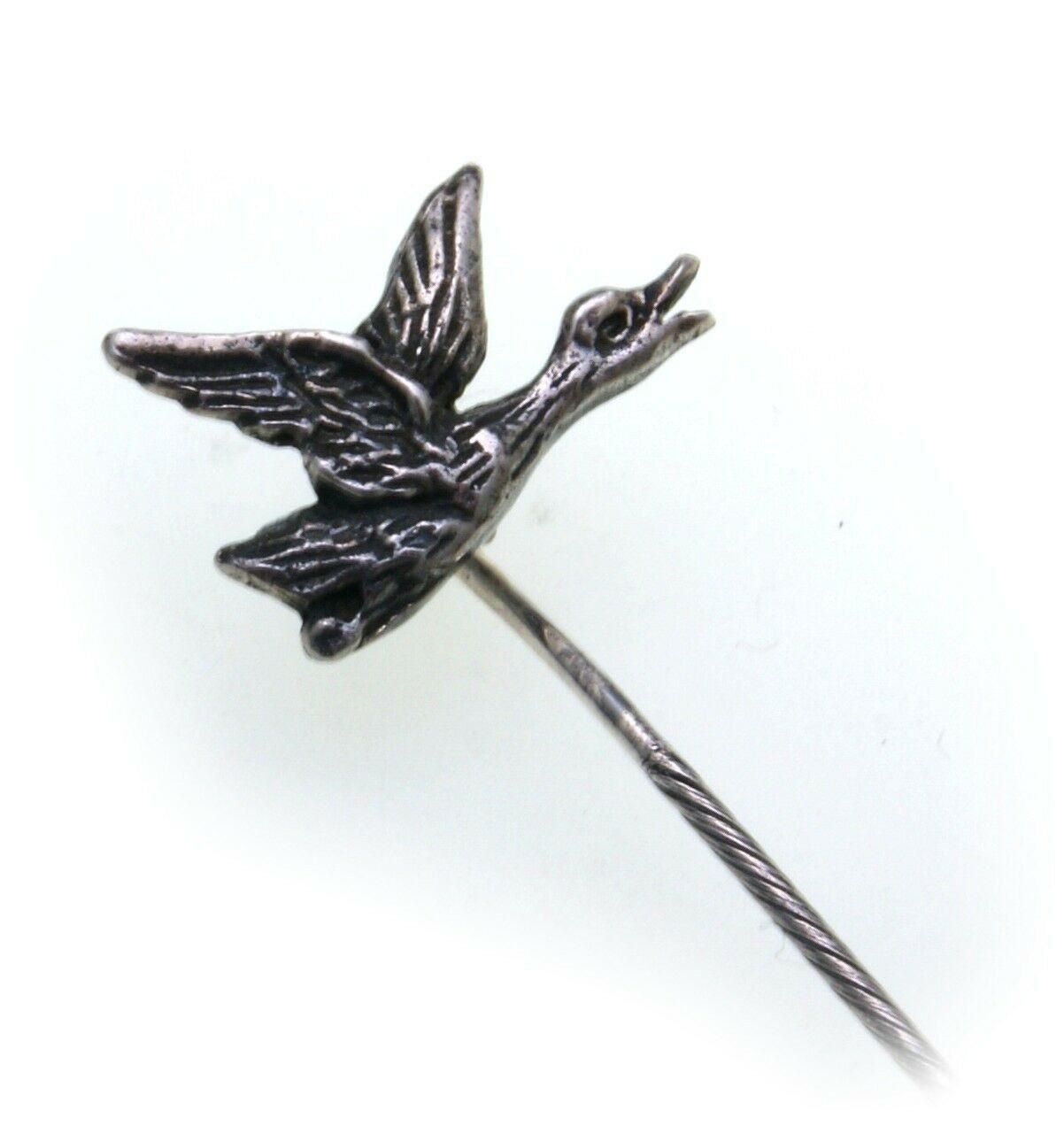 Krawattennadel Ente echt Silber 925 Jagdschmuck Grandelschmuck Anstecknadel