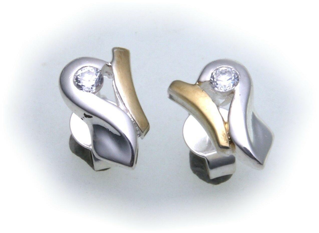Damen Ohrringe Zirkonia Silber 925 Qualität Ohrstecker Stecker Sterlingsilber