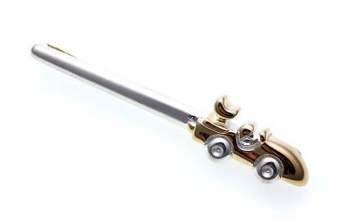 Krawattenhalter Rennwagen echt Silber 925 vergoldet Rennauto Sterlingsilber