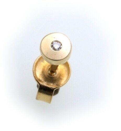 Herren Ohrringe Stecker echt Gold 585 Brillant 0,01ct