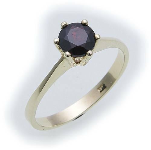 Damen Ring m. Granat in Gold 333 Granatring alle Weiten Gelbgold Qualität 8935/3