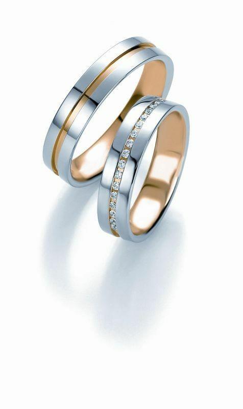 Trauringe Breuning Design Collection 5215/5216 in 585 Gold Bicolor 14 kt