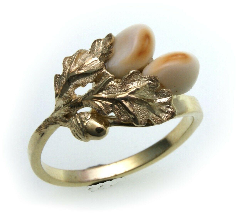 Grandel Ring Damen echt Gold 333 Jagdschmuck Grandelschmuck 8kt