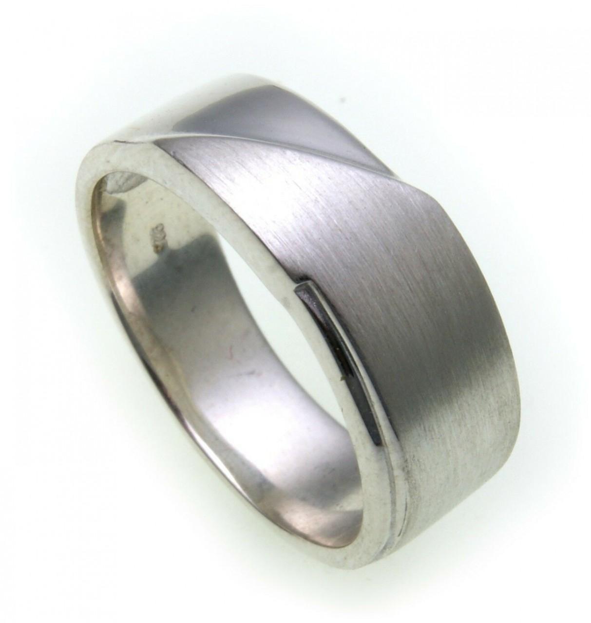 Herren Ring echt Silber 925 teilmattiert massiv schwer Sterlingsilber Qualität