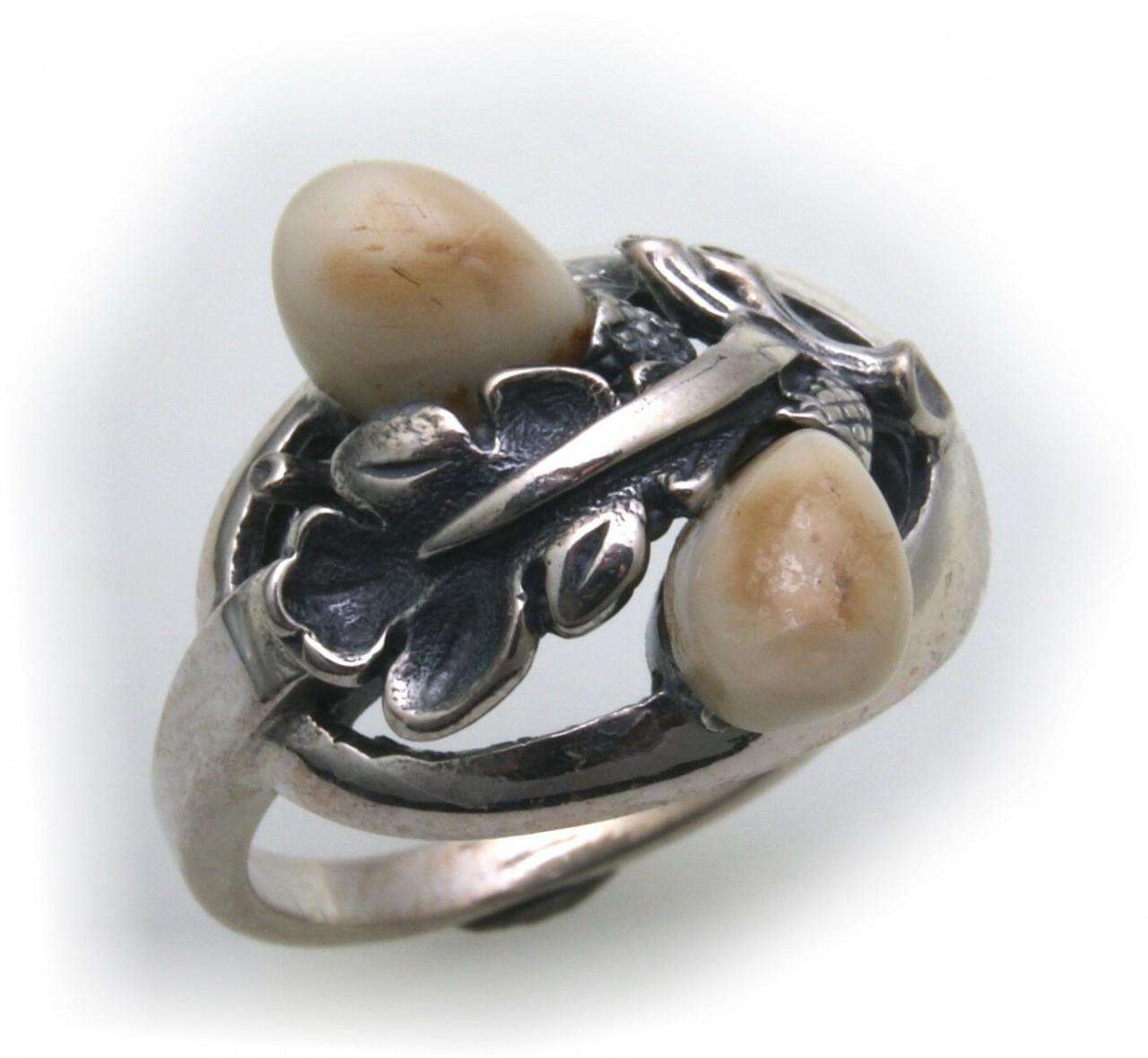 Grandel Ring echt Silber 925 Jagdschmuck Grandelschmuck Grandelring 6