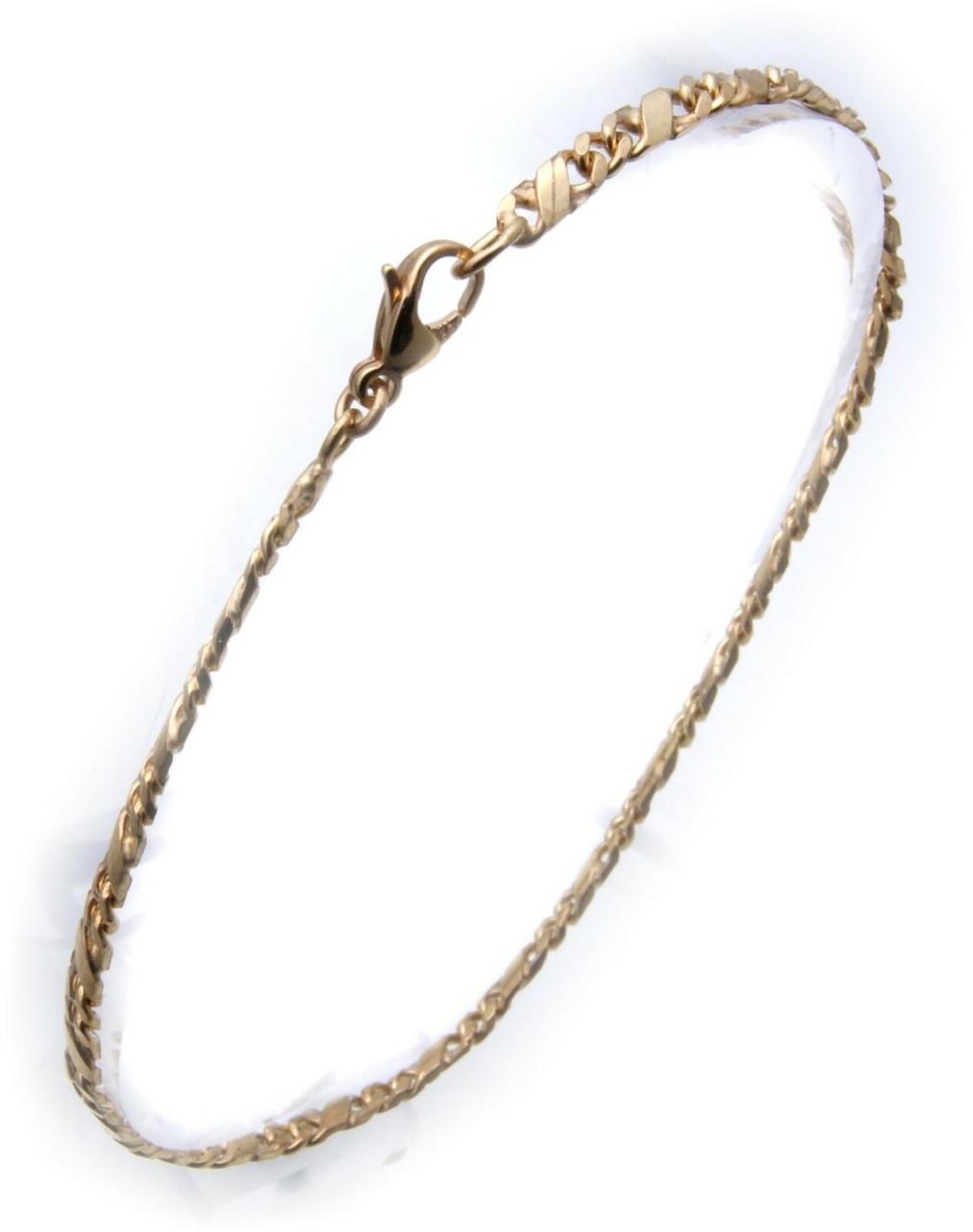 Armband Dollarkette in echt Gold 333 19 cm 8kt Qualität Damen Gelbgold