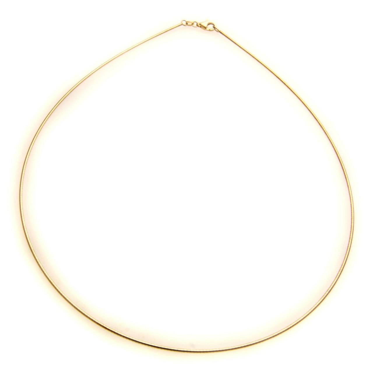 Damen Collier echt Gelbgold 585 14kt Halsreif Top Qualität Gold Halskette Tonda