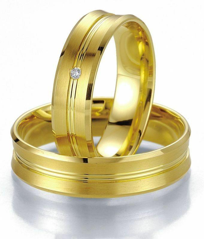 Trauringe Breuning Smartline Collection 7021/7022 in 585 Gold 14 kt