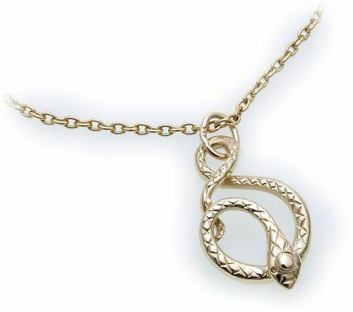 Anhänger Schlange in Gold 585 Schlangenanhänger Gelbgold Qualität Unisex