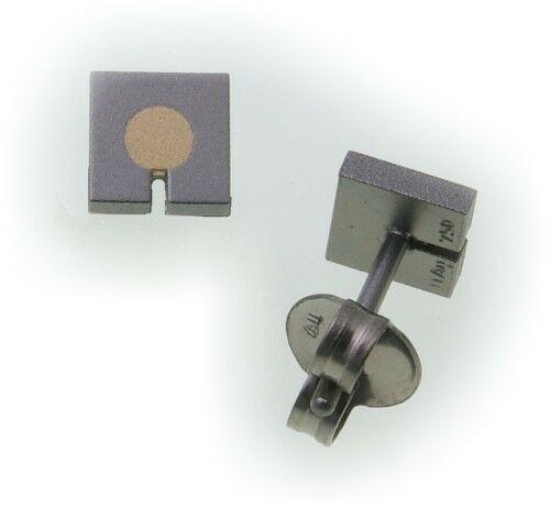 Ohhringe Stecker Titan mit Goldeinlage echt 750 18kt KN2029