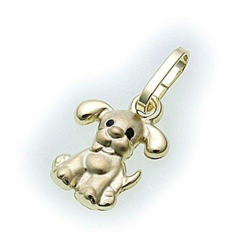 Neu Kinderanhänger Hund in 333 Gold Anhänger Gelbgold Kinder Hunde Qualität Top