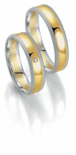 Trauringe Breuning Smartline Collection 7059/7060 in 585 Gold 14 kt weiß gelb