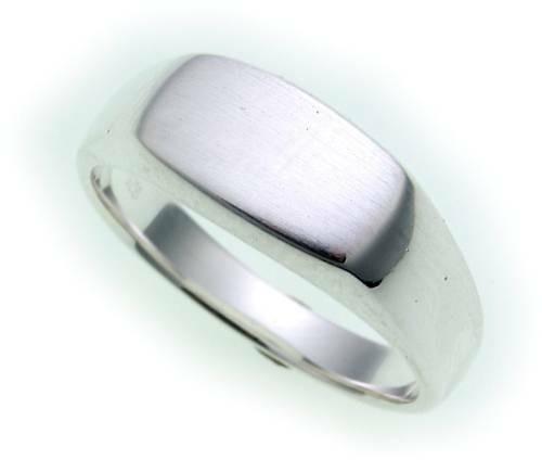 Herren Damen Ring echt Silber 925 incl. Monogrammgravur Sterlingsilber Unisex