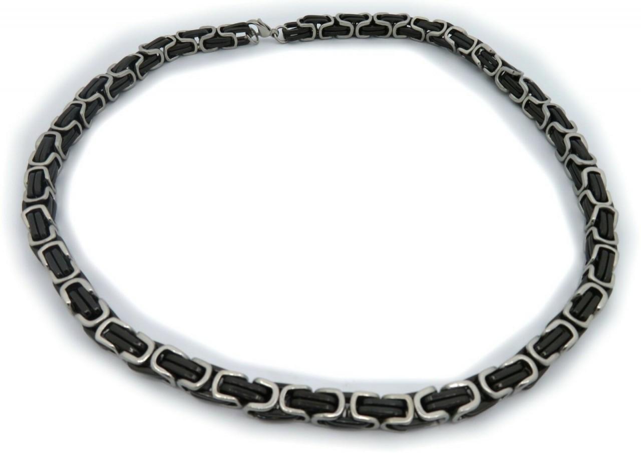 Neu schwere Halskette XL Edelstahl schwarz Kette 60 cm Königskette Qualität Top