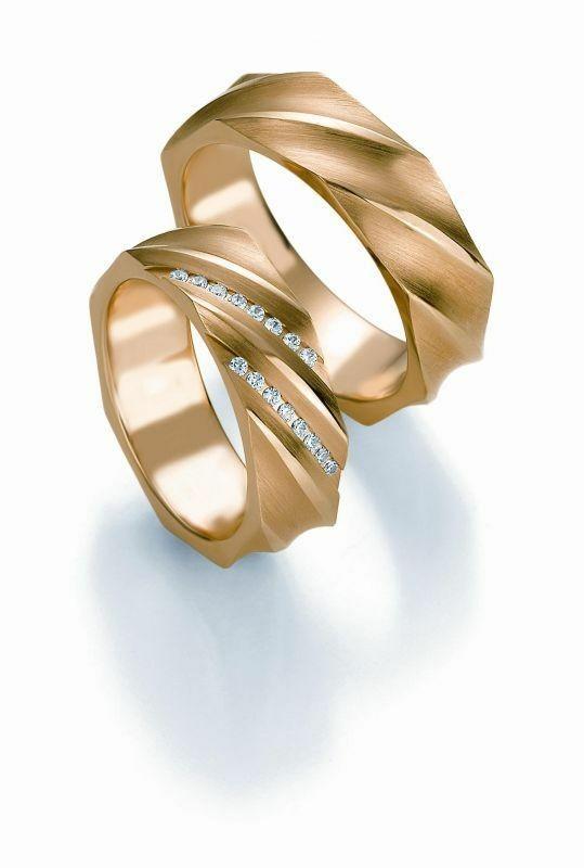 Trauringe Breuning Design Collection 5247/5248 in 585 Gold 14 kt